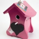 Buzzy Birds House chalk Pink Ral 4010 and the perch Ral 9016