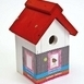 Buzzy Birds House White / Red roof
