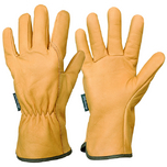 All types of gardening works water repellent leather gloves size 6 - Burgon and Ball