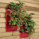 Red Plant wall bags,  set of 2