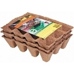 Bio-degradable seedling pots 3 trays x 12 pots (5x5cm)