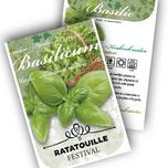 Basil Personalized Printed Seed Packets - 500 pieces