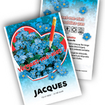 Forget-me-Not Personalized Printed Seed Packets - 50 pieces