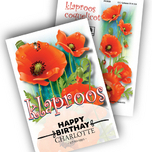 Poppy Personalized Printed Seed Packets
