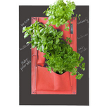 Red Vertical Herb Planter & Chalkboard