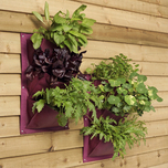 Purple Plant wall bags, set of 2