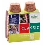 Bio-degradable seedling pots round 18 pots (8cm)