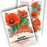 Poppy Personalized Printed Seed Packets - 50 pieces